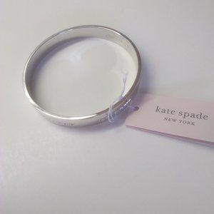 Kate Spade New Silver Bride Engraved Bracelet